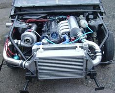 940 dragster with BIG turbo and BIG intercooler.