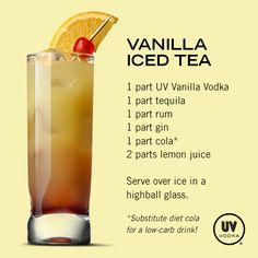 UV Vodka Recipe: Vanilla Iced Tea also interesting