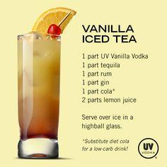 UV Vodka Recipe: Vanilla Iced Tea