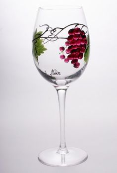 """Dionysus Crystal Red Wine Glasses (Set of 4) by GMG. $69.99. Lead Free Crystal. Set Of Four - 9 -1/2"""" High - 17 Ounces - Pinot Noir Glasses. Imported.. Hand Wash only.. Hand Crafted And Hand Decorated. Each piece in this line of hand decorated, lead free crystal has been individually hand-crafted. Dionysus Collection displays a different type of wine on each glass. Not only is the creative process time consuming. As with all handcrafted works of art, no two are exa..."""