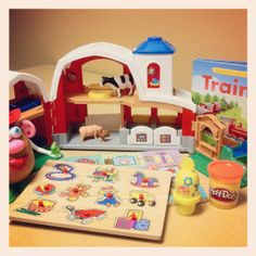 List of our favorite toys that encourage speech/language and fine and gross motor development for young children