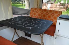 Chalkboard table - pop up camper redo!