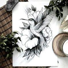 Bird Drawings, Art Drawings Sketches, Tattoo Drawings, Red Heart Tattoos, Body Art Tattoos, Sleeve Tattoos, Hand Tattoo, Deer Tattoo, Raven Tattoo