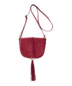 Look what I found on #zulily! Wine Tassel-Accent Crossbody Bag #zulilyfinds