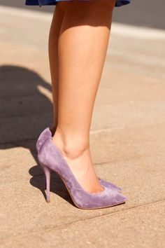 Purple shoes by Casadei