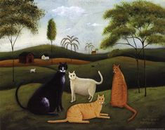 country graphics cats | Cat Country ~ Fine-Art Print - Cats Art Prints and Posters - Cats and ...