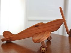 Spitfire Airplane . Handcrafted Wooden Toy or Decor . Custom Order. $75.00, via Etsy.
