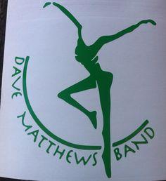 DMB Dave Matthews Band Firedancer Green Vinyl Decal by nockonwood, $3.00