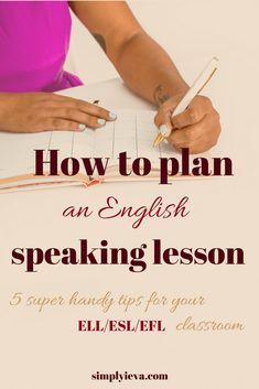 ESL speaking activities. How to teach speaking English to ESL, ELL, EFL. #english #esl #ell #language #learn #teach #teaching #educate #learnenglish #classroom #activities #speak #speaking