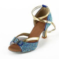 Raso / Rhinestone superior del tobillo correa de la Mujer Latina / Salsa Zapatos de Baile (más colores) – GBP £ 34.78