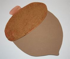 Pumpkin Pie Spice Acorn. I did this last fall and it was a great craft for the preschoolers! I used construction paper instead of foam. I put all the acorns on the bulletin board and it made the hall smell so good.