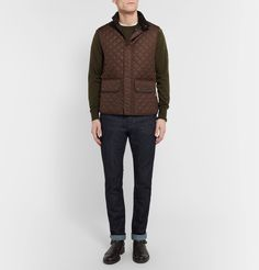 <a href='http://www.mrporter.com/mens/Designers/Belstaff'>Belstaff</a>'s roots lie in motorsports, and this quilted gilet is designed to get you more mileage out of your driving jackets in the winter months. Designed to snap neatly into the brand's [Roadmaster id791223], [Trialmaster id726929] and [Panther id791225] styles, it's made from lightweight and water-resistant shell that's padded for optimum warmth. It doubles as...