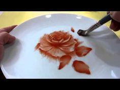 10分でバラの絵付け - YouTube