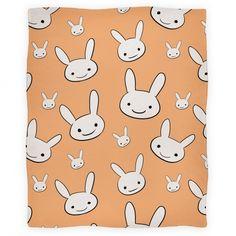 Ryoku's Bunny Pattern   Blankets, Fleece Blankets and Throws   HUMAN