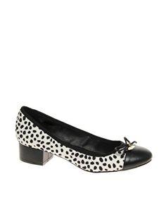 River Island Peso Dalmatian Print Low Heel Ballet Shoes