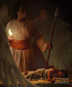 Guardian Angel Painting by Tamer Elsharouni - Guardian Angel Fine Art Prints and Posters for Sale