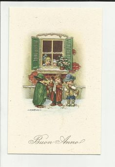 Vintage Christmas Cards, Vintage Cards, Holiday Cards, Christmas And New Year, Winter Christmas, Christmas Holidays, Retro Illustration, Vintage Illustrations, Nouvel An