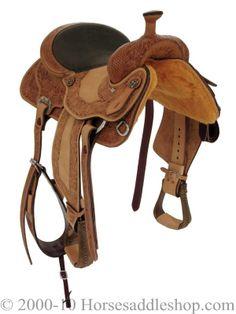 "15"" Alamo Elite All Around Basket/Floral Border Tooled Saddle 1340"