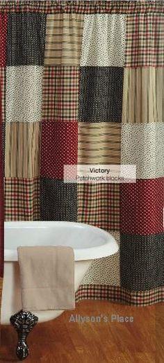 10 best Primitive Shower Curtains images on Pinterest | Prim decor ...