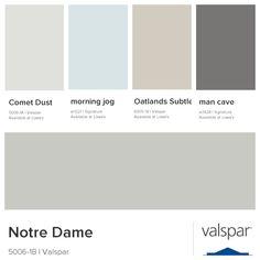 My Color Palette Notre Dame Living Room Main House Comet Dust Bedrooms Morning Jog Uti Farm House Colors Paint Colors For Living Room Basement Paint Colors