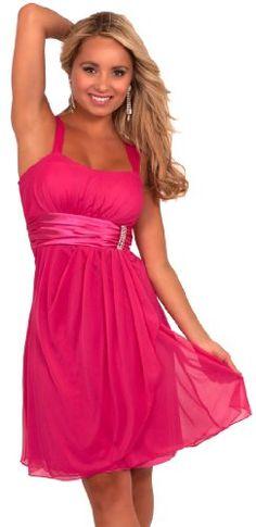 d7623b7187 Hot from Hollywood Women s Sleeveless Rhinestone Empire Waist Sheer Party  Dress Mint Dress