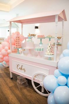 The vintage food cart at this ice cream birthday party is amazing! See more par Ice cream birthday party 1st Birthday Parties, Birthday Party Decorations, Girl Birthday, Elegant Birthday Party, Birthday Banners, 1st Birthdays, Tea Parties, Birthday Invitations, Pastell Party