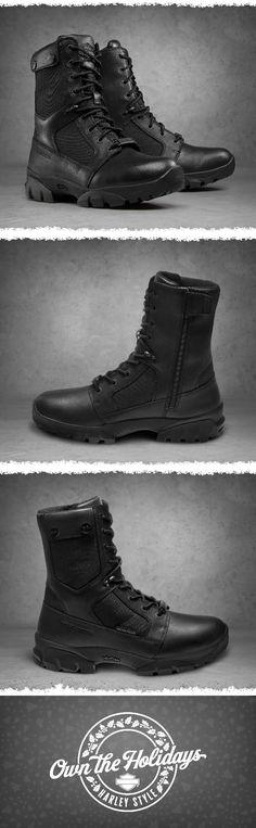 Harley-Davidson Men's Britford Boots & Knit Cap Bundle