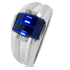 Etsy NissoniJewelry presents - .01CT with Created Sapphire Men's ring with Jback in 10k White Gold    Model Number:GR6152A-W077CSJ    https://www.etsy.com/ru/listing/289094951/01ct-with-created-sapphire-mens-ring