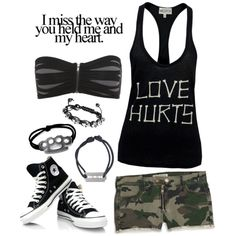 """It's the collision of your kiss that makes this so hard"" by i-will-drown-in-the-fear on Polyvore"
