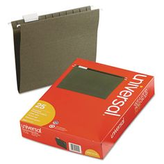 Hanging File Folders, 1/5 Tab, 11 Point Stock, Letter, Standard Green, 25/Box Get your files in order with these classics. 11 pt. stock. Includes index tabs and inserts.
