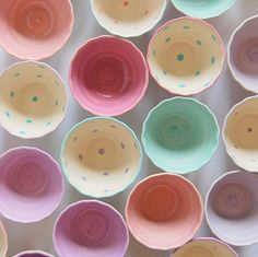 pastel ice cream cups