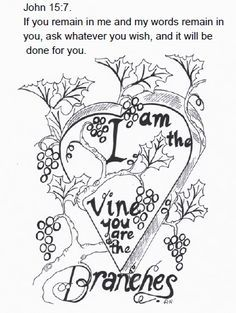 I Am The Vine You Are Branches And Coloring Pictures