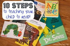 Wonderful post for parents: 10 steps to teaching your child to read