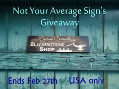 win a custom engraved sign NYAS giveaway1