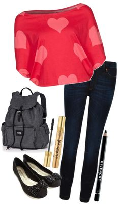 """""""Hearts and Bows! (:"""" by jamiegurl13 ❤ liked on Polyvore"""