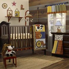 oh my goodness.  how danged adorable....    CoCaLo Eight Piece Crib Set - Round Em Up - Best Price