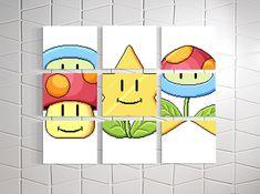 Mario Match Canvas Prints