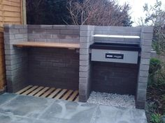 Very nice example of a brick BBQ