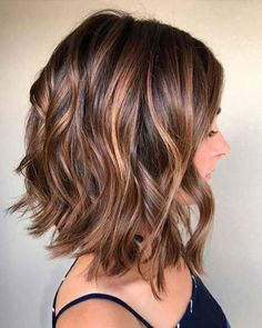 Balayage, Curly Lob Hairstyles - Shoulder Length Hair Cuts for Women and Girls Eyebrow Makeup Tips Great Hair, Curly Hair Styles, Curly Lob, Hair Styles Medium Bob, Inverted Bob Styles, Long Inverted Bob, Angled Lob, Long Curly, Medium Hair Styles For Women Easy