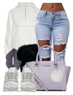 """Untitled #609"" by b-elkstone ❤ liked on Polyvore featuring Alexander Wang, Lime Crime, MICHAEL Michael Kors, Topshop and Reebok"