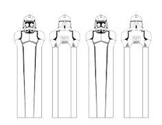 Znalezione obrazy dla zapytania star wars bookmark black and white