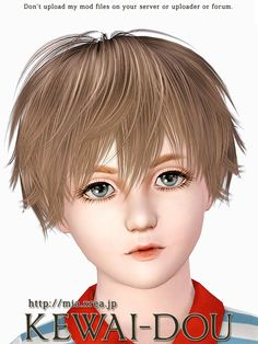 This is download page of Kisaragi hair that was made by KEWAI-DOU for The Sims 3.