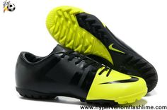 Buy Cheap Nike Green Speed GS TF Volt-Black-Black Shoes Store