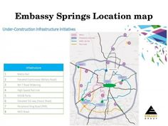 Embassy Springs Location is in devanahalli and comprises of about 815 Villa Plots of sizes ranging between 2100 sq.ft to 5400 sq.ft 3000 luxury apartments 200 villas top school and health care facility. Majority of the land area is dedicated to landsca Metro Rail, High Speed Rail, Spring Projects, Spring Photos, Close Proximity, Location Map, All Modern, Top School