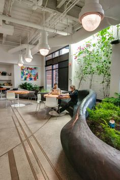 The QuickLeft software company in Boulder, Colorado has office space designed by tres birds workshop embracing the trend of incorporating nature into the modern workspace. Photo: Courtesy http://tresbirds.com/