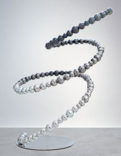 Jean-Michel Othoniel's Glass Sculptures Black Tornado, a recent work at L&M Arts in New York. Photo courtesy of the artist