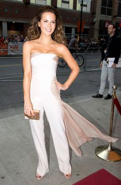 Kate Beckinsale arrives on the red carpet for the film 'The Face of an Angel' at the Toronto International Film Festival in Toronto on Saturday Sept. 6, 2014.   Photo by Frank Gunn of The Canadian Press.