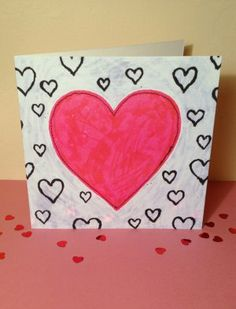 'Big Heart' Valentine's Card by Dilys Treacle Treasures