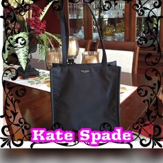 """Vintage Kate Spade Nylon Purse Vintage Kate Spade Nylon Purse. 10.75"""" Inches Tall, 4.5"""". Inches Wide, 11"""" Inches Long Across and 12"""" Shoulder Drop. Zips To Close. Gently Used / Excellent Condition. Made in USA. 🚫 No Pay Pal 🚫 No Trades 🚫 kate spade Bags Shoulder Bags"""
