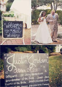 Chalk Board Wedding Sign.